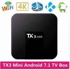 TV Box TX3 Mini Smart Android 7.1  2GB RAM 16GB ROM Amlogic S905W 2.4GHz WiFi 1.5GHz 4K 64Bit HD WIFI Media Player